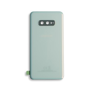 Back Glass with Adhesive for Galaxy S10e (OEM - Service Pack) - Prism White