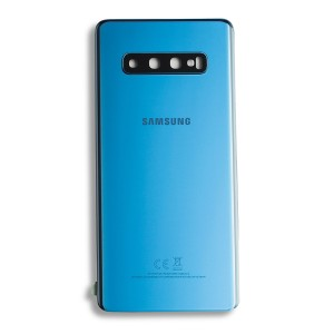 Back Glass with Adhesive for Galaxy S10+ (Prime - OEM) - Prism Blue