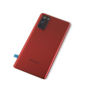 Back Glass with Adhesive for Galaxy S20 FE 5G (OEM - Service Pack) - Cloud Red