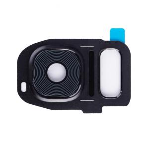 Rear Camera Lens with Bezel for Galaxy S7 - Black Onyx
