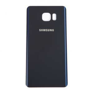 Back Glass for Samsung Galaxy Note 5 (w/ Adhesive) (PrimeParts - OEM) - Black Sapphire
