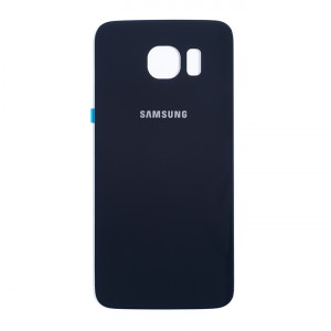 Back Glass for Samsung Galaxy S6 (w/ Adhesive) (PrimeParts - OEM) - Black Sapphire