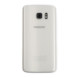 Back Glass with Adhesive for Galaxy S7 (Prime - OEM) - White Pearl
