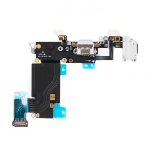 "Charging Port & Headphone Jack Flex Cable for iPhone 6S Plus (5.5"") - Light Grey"