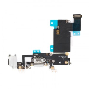 """Charging Port & Headphone Jack Flex Cable for iPhone 6S Plus (5.5"""") - White"""