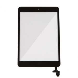 Digitizer (w/ IC Connector & Home Button) for iPad Mini / iPad Mini 2 (PrimeParts - Premium) - Black