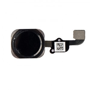 Home Button Flex Cable for iPhone 6S Plus - Black (No Touch ID)