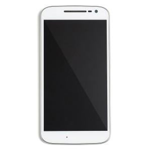 LCD & Digitizer Frame Assembly w/Small Parts for Motorola Moto G4 (XT1625) (Authorized OEM) - White