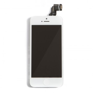 LCD & Digitizer Frame Assembly (w/ Front Cam & Prox. Sensor & Ear Speaker) for iPhone 5C - White