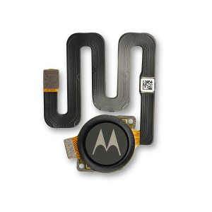 Fingerprint Scanner with Adhesive for Moto One (Authorized OEM) - Black