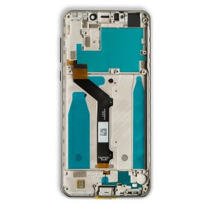 LCD Frame Assembly for Moto One (XT1941) (Authorized OEM) - White