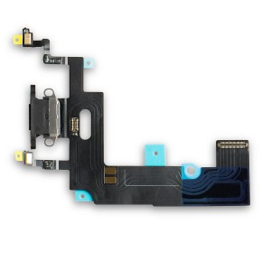 """Charging Port Flex Cable for iPhone XR (6.1"""") - Black"""