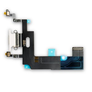 """Charging Port Flex Cable for iPhone XR (6.1"""") - White"""