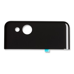 Back Glass for Google Pixel 2 (w/ Adhesive) - Black
