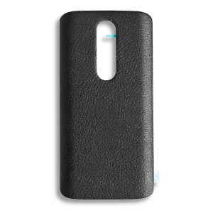 Back Cover for Droid Turbo 2 (XT1580) (Authorized OEM) - Black Leather