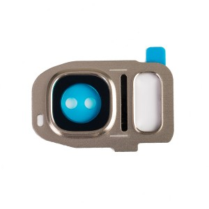 Rear Camera Lens with Bezel for Galaxy S7 - Gold