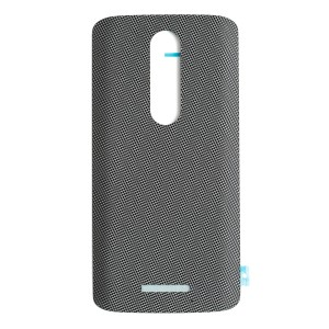 Back Cover for Motorola Droid Turbo 2 / Moto X Force w/ Adhesive (XT1580) (Authorized OEM) - Black Nylon