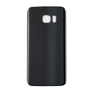 Back Glass for Samsung Galaxy S7 Edge (w/ Adhesive) (Generic) - Black Sapphire