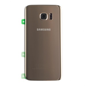 Back Glass for Samsung Galaxy S7 Edge (w/ Adhesive) (PrimeParts - OEM) - Gold