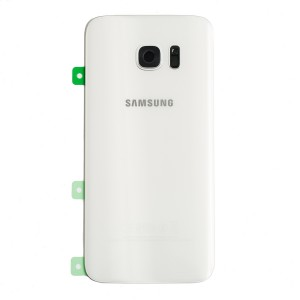 Back Glass for Samsung Galaxy S7 Edge (w/ Adhesive) (PrimeParts - OEM) - White
