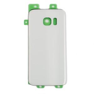 Back Glass for Samsung Galaxy S7 (w/ Adhesive) (Generic) - White