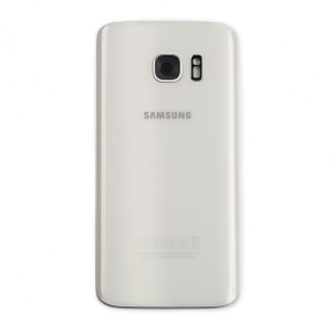 Back Glass for Samsung Galaxy S7 (w/ Adhesive) (PrimeParts - OEM) - White