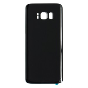Back Glass with Adhesive for Galaxy S8 (Generic) - Midnight Black