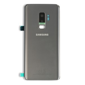 Back Glass with Adhesive for Galaxy S9+ (Prime - OEM) - Titanium Gray