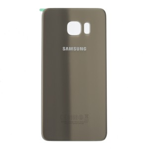 Back Glass for Samsung Galaxy S6 Edge Plus (w/ Adhesive) (PrimeParts - OEM) - Gold Platinum