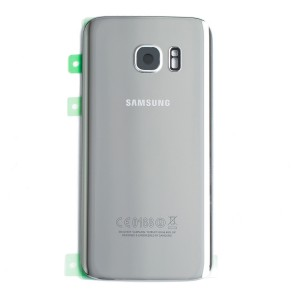 Back Glass (w/ Adhesive) for Samsung Galaxy S7 (PrimeParts - OEM) - Silver