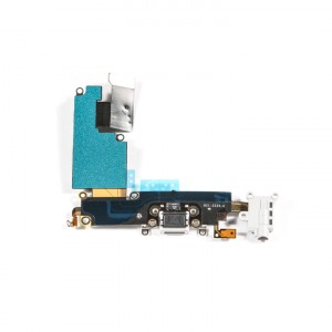 "Charging Port & Headphone Jack Flex Cable for iPhone 6 Plus (5.5"") - Light Grey"