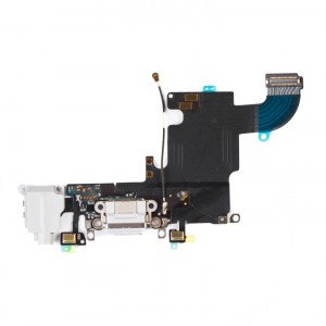 """Charging Port & Headphone Jack Flex Cable for iPhone 6S (4.7"""") - Light Grey"""