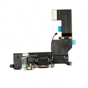 Charging Port Flex Cable for iPhone SE - Black