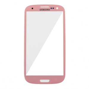 Glass Lens for Samsung Galaxy S3 - Pink