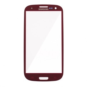 Glass Lens for Samsung Galaxy S3 - Red