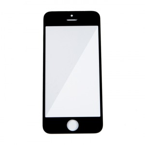 Glass Lens for iPhone 5 / iPhone 5C / iPhone 5S / iPhone SE (w/ OCA) - Black