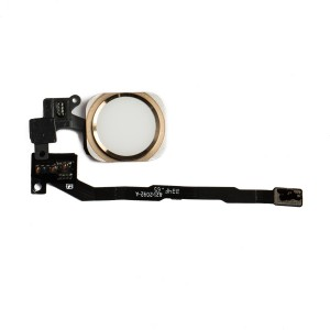 Home Button Flex Cable for iPhone 5S / SE - Gold (No Touch ID)