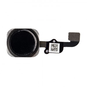"Home Button Flex Cable (w/ Fingerprint Scanner) for iPhone 6S (4.7"") - Black (Fingerprint scanner is aftermarket - biometrics may not work)"