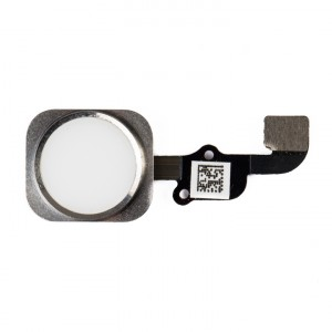 """Home Button Flex Cable (w/ Fingerprint Scanner) for iPhone 6S Plus (5.5"""") - White (Fingerprint scanner is aftermarket - biometrics may not work)"""