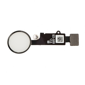 """Home Button Flex Cable (w/ Fingerprint Scanner) for iPhone 7 (4.7"""") - White (Fingerprint scanner is aftermarket - biometrics may not work)"""