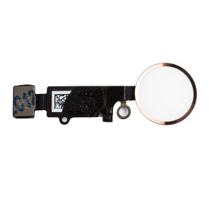 "Home Button Flex Cable (w/ Fingerprint Scanner) for iPhone 7 Plus (5.5"") - Rose Gold (Fingerprint scanner is aftermarket - biometrics may not work)"