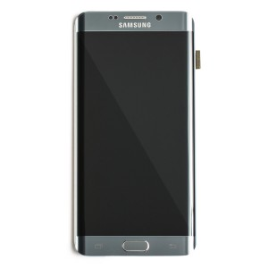 LCD & Digitizer Frame Assembly for Samsung Galaxy S6 Edge Plus (G928A) (PrimeParts - OEM) - Silver
