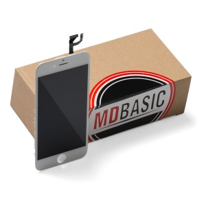 """LCD & Digitizer Frame Assembly for iPhone 6S (4.7"""") (mdBasic) - White (Bulk pricing available for sets of 5 screens)"""