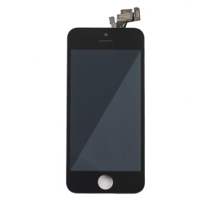 LCD & Digitizer Frame Assembly (w/ Front Cam & Prox. Sensor & Ear Speaker) for iPhone 5 (Express) - Black