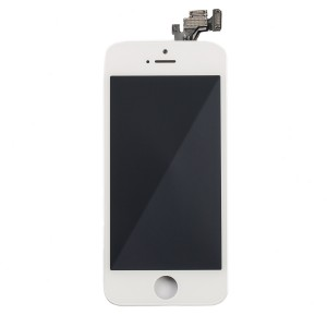 LCD & Digitizer Frame Assembly (w/ Front Cam & Prox. Sensor & Ear Speaker) for iPhone 5 (MDSelect) - White