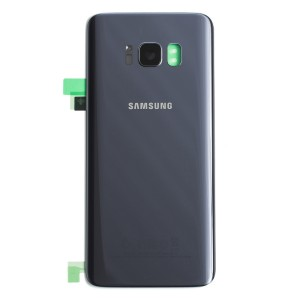 Back Glass with Adhesive for Galaxy S8 (OEM - Service Pack) - Orchid Gray