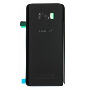 Back Glass with Adhesive for Galaxy S8+ (OEM - Service Pack) - Midnight Black