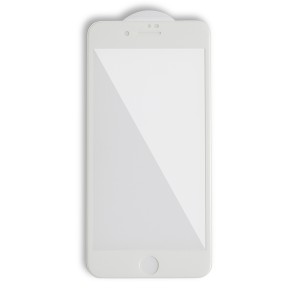 Tempered Glass Shield (0.33mm) for iPhone 7 Plus / iPhone 8 Plus (3D) (NO Retail Packaging) - White