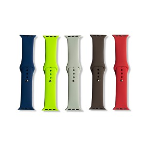 Silicone Apple Watch Band Set A (38mm/40mm) - 5 Pack