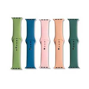 Silicone Apple Watch Band Set E (38mm/40mm) - 5 Pack